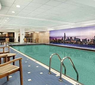 Pool View at Swissotel Chicago