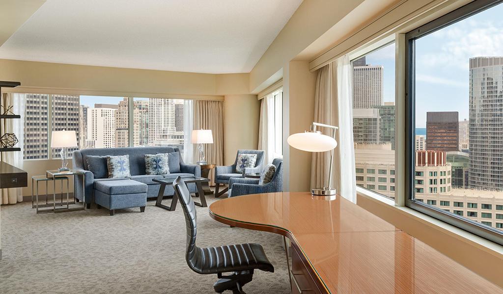 Swissotel Chicago Bünyesinde Köşe Yaşam Tarzı Suit