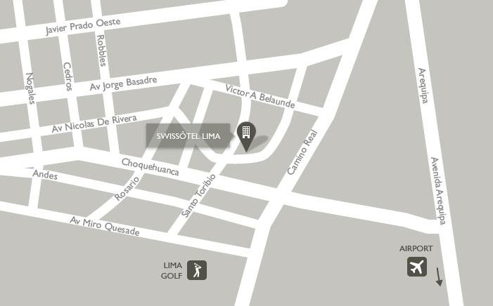 Swissotel Limaの地図