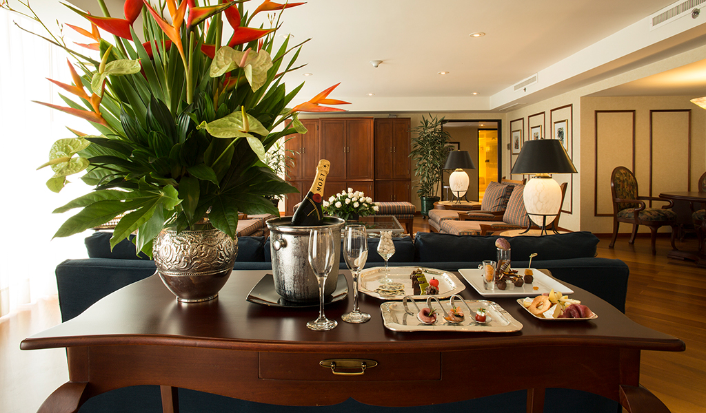 Presidential Suite Living Room at Swissotel Lima