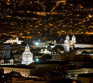 Quito at night at Swissotel Quito