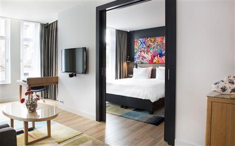 阿姆斯特丹瑞士酒店的高级豪华套房