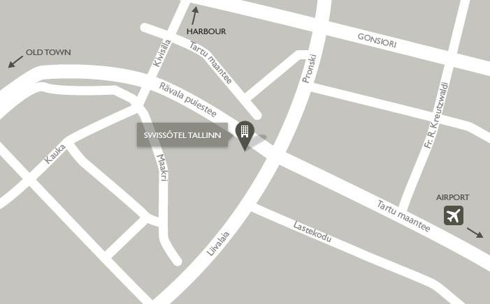 Mapa del Swissotel Tallinn