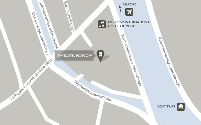 Карта Swissôtel Москва