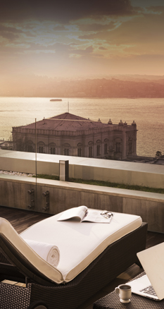 Swissotel The Bosphorus'ta Teras Suit Manzarası