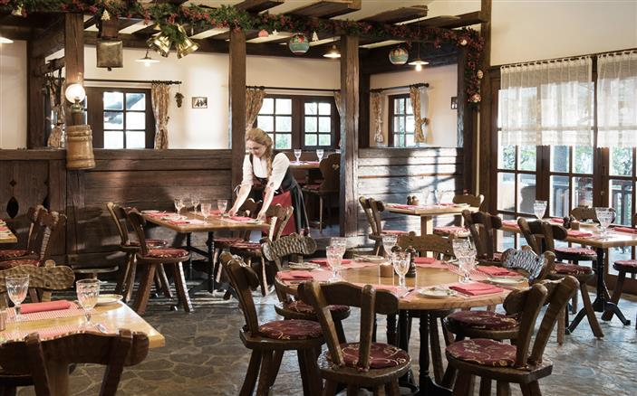 Swiss chalet dining