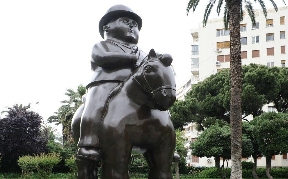 Fernando Botero Man On Horse