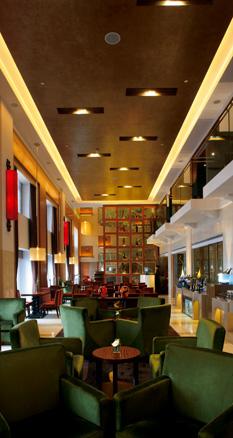 位于 上海宏安瑞士大酒店 楼的行政俱乐部酒廊