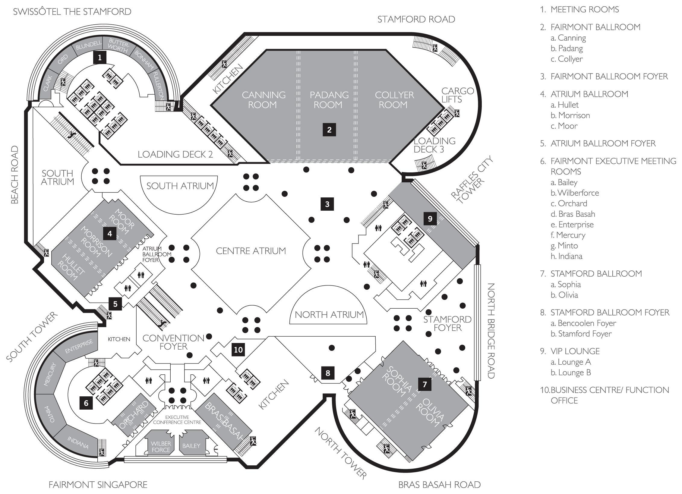 Atrium Ballroom Swissotel The Stamford Swiss 244 Tel