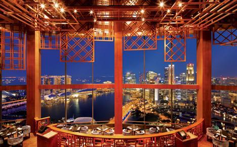 Equinox Restaurant im Swissôtel Stamford Singapur