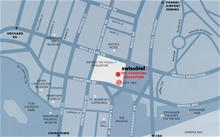 Map of the Swissotel Stamford Singapore hotel