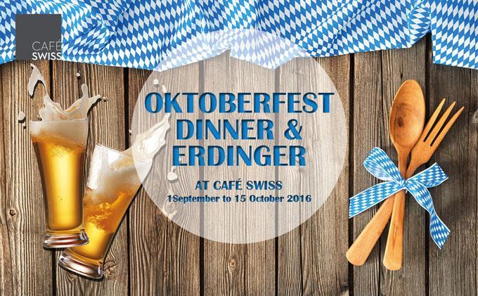 Oktoberfest Dinner & Erdinger at Cafe Swiss