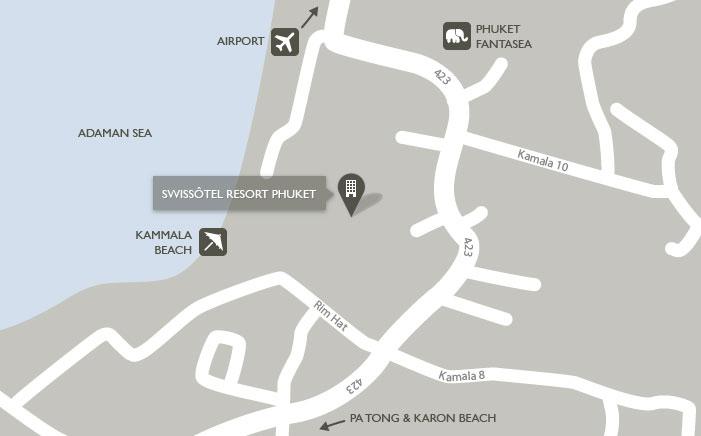 Mapa del Swissotel Resort Phuket