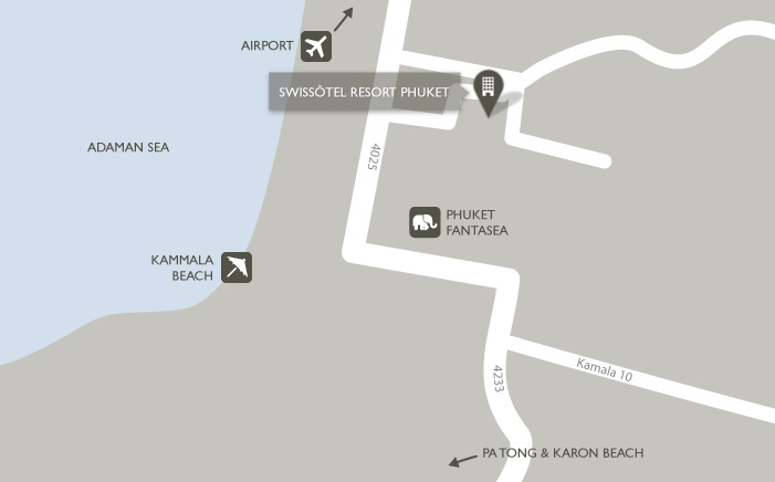 Карта Swissotel Resort, Пхукет Kamala Beach