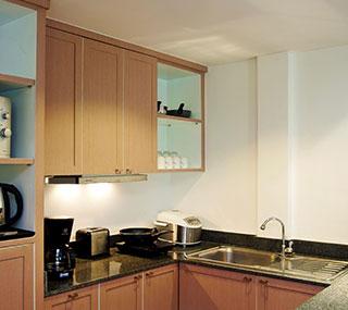 Мини-кухня в люксе
