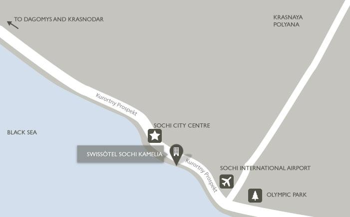 Mapa del Swissotel Resort Sochi Kamelia