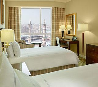 غرف النزلاء في فندق سويس أوتيل المقام (Swissotel Al Maqam)