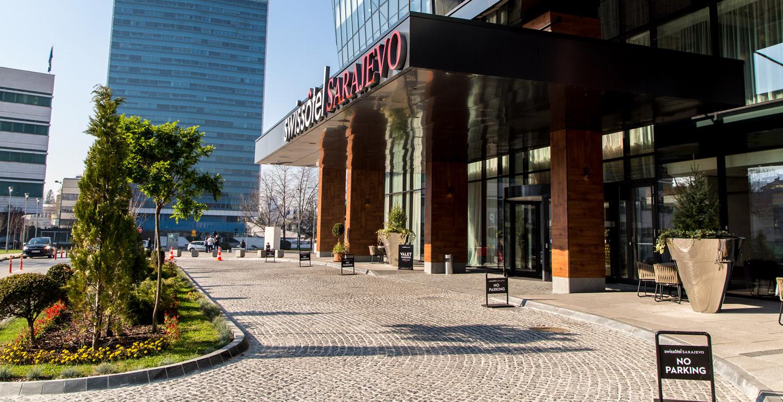 萨拉热窝瑞士酒店入口