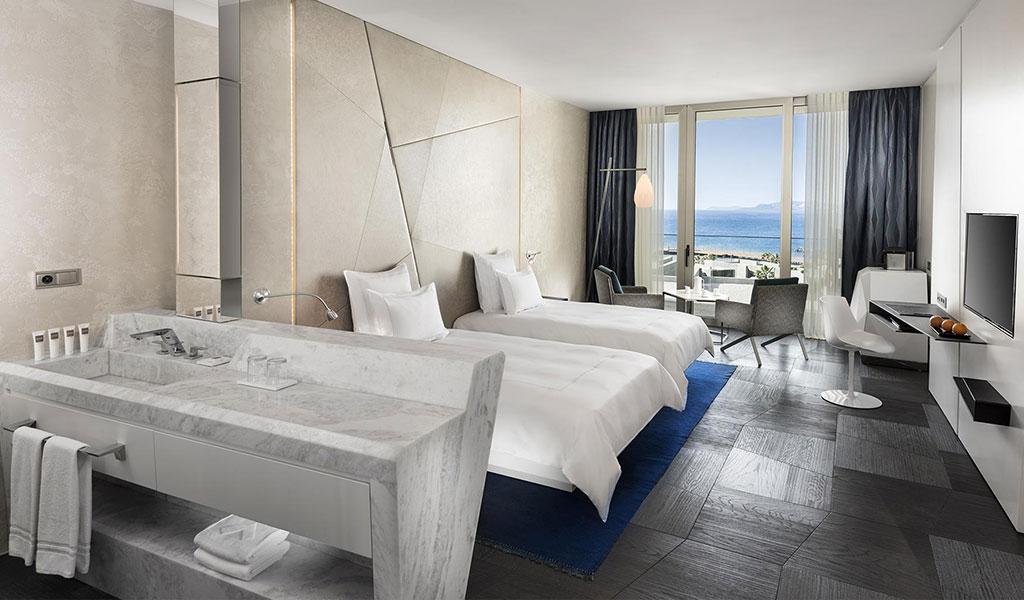 Habitación Swiss Select con vista al mar y camas individuales