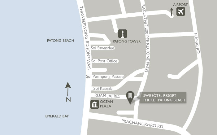 Map of Swissotel Resort Phuket Patong Beach