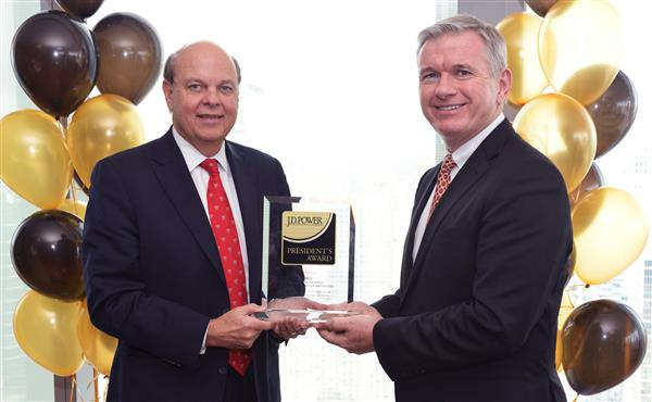 FRHI RECEIVES J.D. POWER PRESIDENT'S AWARD