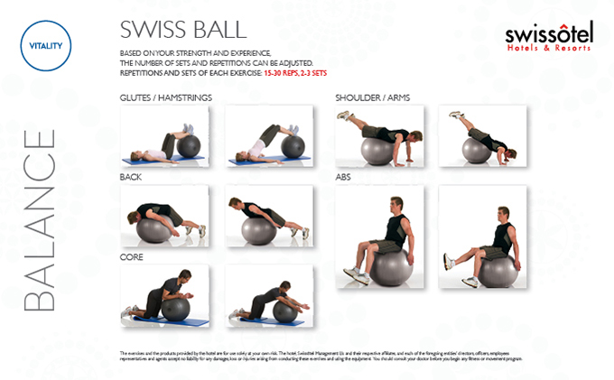 Swiss Ball Balance Exercise Card