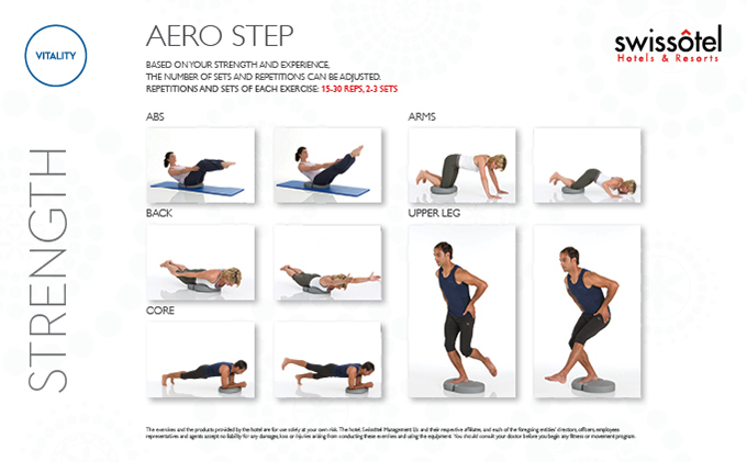Aero Step Strength Exercise Card