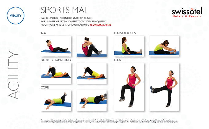 Sports Mat Agility Exercise Card