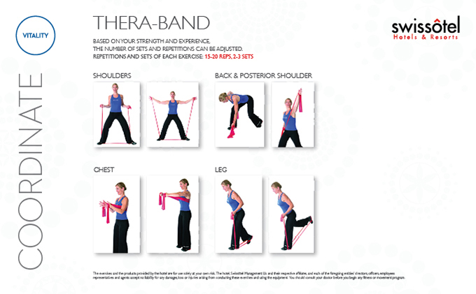 Thera-Band Coordinate Exercise Card
