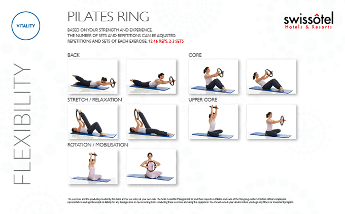 Pilates Ring Flexibility Exercise Card